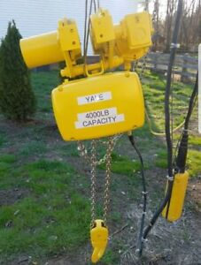 Yale 2 Ton Electric Chain Hoist With Motorized Trolley