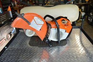 Stihl Ts420 Gas Concrete Cut off Saw W 14 Asphalt Disk