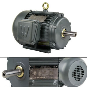 2 Hp 3 Phase Electric Motor 1800 Rpm 145t Frame Tefc 230 460v Premium Efficiency