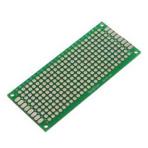 Double side Prototype Fr 4 Pcb Stripboard Printed Circuit Board 3x7cm