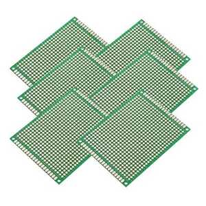Double side Prototype Fr 4 Pcb Stripboard Printed Circuit Board 6x8cm