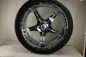 24 Mb Motorsport Chrome Wheel Rim With Ns All Sport Performance Tire Free Ship