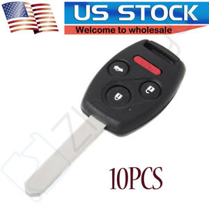 10x Replacement Remote Entry Car Key Fob For 2004 2005 2006 2007 Honda Accord