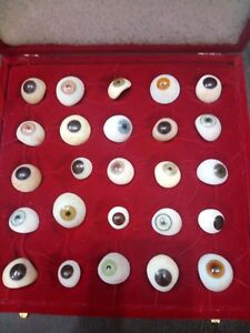 Optometry Equipment Artificial Mix Colours Eyes 25 Piece Free Ship
