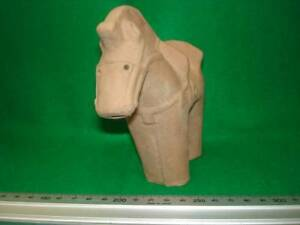 Japanese Style Haniwa Pottery Lucky Goods Welfare Thing Bells Horse Ems F S