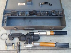 Kearney Compression Crimping Tool Press W Dies And Metal Case