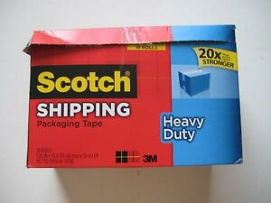 Scotch 3850 18cp Heavy duty Packaging Tape Cabinet Pack 18 Rolls 1 88 X 54 6yd