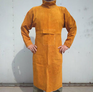 Cow Split Leather Welding Aprons Heavy Duty Welder Aprons With Neck