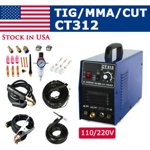 Ct312 3in1 Welding Machine Tig mma plasma Cutter Welder Torches Accessories
