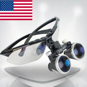 High end Luxury Dental Surgical Medical Binocular Loupes 2 5x 420mm Magnifier Us