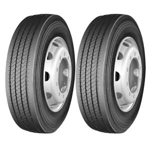 2 X Commercial Truck Tires 295 75r22 5 144 141m 14 Ply Trailer Tire High Quality