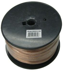 Brown 100 Ft 12 2 Stranded Speaker Wire Home Indoor Audio Electrical Cable Cord