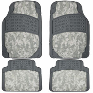 Acu Digital Camo Hunting Camo Set Camouflage Car Front Rear Rubber Floor Mats
