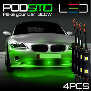 Accent Rock Led Light Underbody Under Car Green Neon Glow For Mitsubishi Eclipse