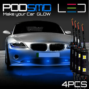 Under Car Blue Accent Rock Lights Underbody Led Neon Glow Kit For Ford Mustang