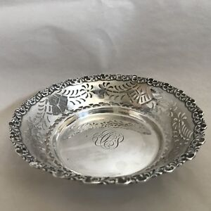 Vintage Sterling Silver Decorative Bowl Or Candy Dish Monogrammed