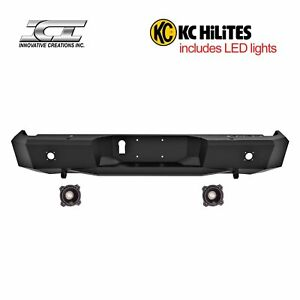 Rbm69tyn Kc Magnum Off Road Rear Bumpers With Kc Hilites Led Reverse Lights Ici