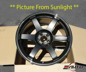 Rays Te37 Saga Wheel Rim Diamond Dark Gunmetal 18 18x9 5 43 5x100 19lbs
