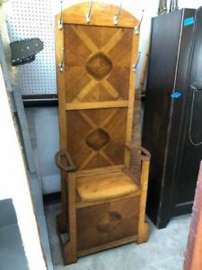 Antique Hall Tree With Hooks Bench