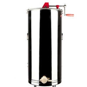 2 frame Manual Stainless Steel Honey Extractor Silver Beekeeping Equipment Drum