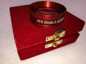 20 D Double Aspheric Lens Red In Color Optometry Ophthalmology Wooden Case