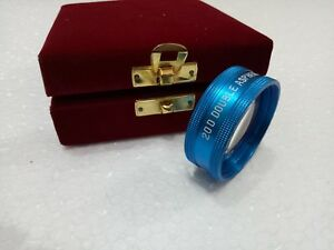Medical Optometry Double Aspheric Lens 20 D Blue Color Wooden Case Worldwide