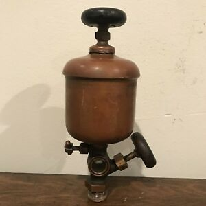 Antique Powell Lubricator 6 Sight Feed Brass Oiler 3 4 Steam