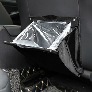 Car Seat Back Foldable Garbage Storage Bag Organizer Holder Auto Accessory Hang