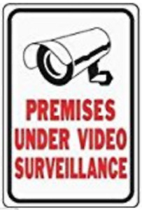 Lot Of 16 These Premises Protected By Video Surveillance Sign 12 In X 18 In