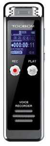 Digital Voice Recorder Voice Activated Recorder Playback Sd Card Slot 8gb Memory