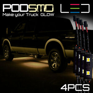 Neon Accent Under Car Glow Underbody Led Lights Warm White For Honda Ridgeline