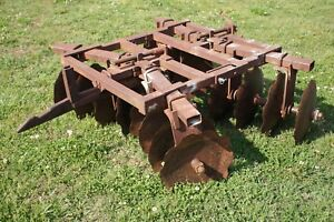 5 Bog Disc Harrow Plow 1pt 1 Point Fast Hitch Farmall Ih Super A 100 140 Disk