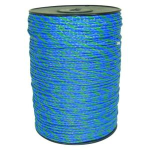 Electric Fence Livestock Horse Security Roll Wire 1640 Ft Blue Green Polywire