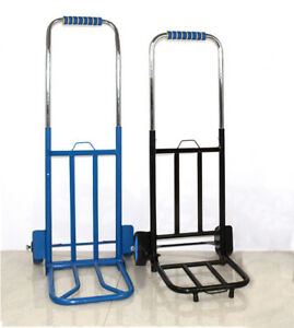 New Durable Collapsible Electroplate Hand Truck Trolley Warehouse Cart Load