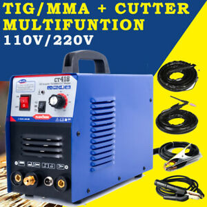 Plasma Cutter Tig Welding 3 Functions In One Machine 110v 220v Double Voltage