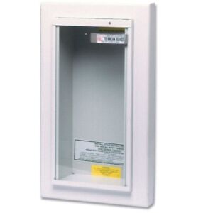 Fire Extinguisher Cabinet 10 Lbs Wall Mount Tempered Glass Security Home Safety