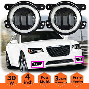 For 05 10 Chrysler 300 05 08 Magnum Bumper Front Driving Halo Fog Lights Foglamp