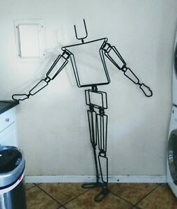 Full Size Wrought Iron Stop Motion Jointed Mannequin Male Female Stick man Style