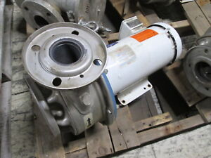 Goulds Stainless Steel Pump W Motor 6shk6pl Size 2 1 2 X 3 6 3hp 1750rpm Used