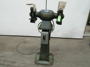 Baldor 8123w 3 4hp 3 Phase Pedestal 8 Grinder Buffer Polisher 3600 Rpm
