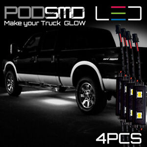 White Accent Underbody Rock Led Lights Under Car Neon Glow For Ford F 150 F150