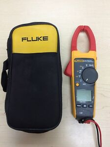 Fluke 375 True Rms Clamp Meter W case Leads