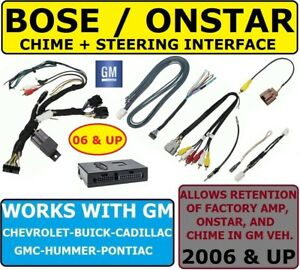 Bose onstar amp swc Adapter For 2006 up Gm Car Stereo Radio Module Installation