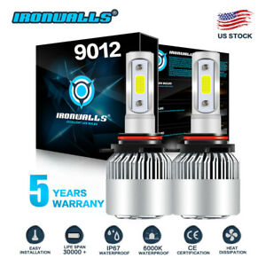Ironwalls 9012 Hir2 Led Headlight Bulb Replace High Lo Beam 1700w 255000lm 6000k