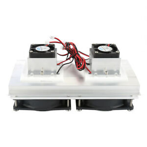 New Refrigeration Thermoelectric Peltier Double Fan Cooling System Kit Cooler