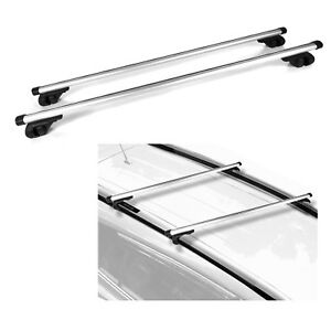 53 Aluminum Cargo Roof Rack Cross Bar Adjustable Lockable Clamps Fit Subaru