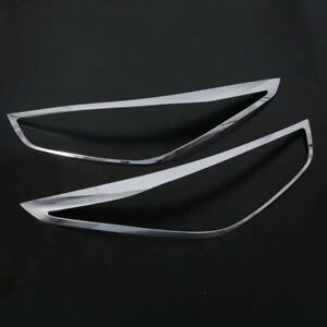 Abs Chrome Headlight Front Lamp Cover For Hyundai Accent Solaris 2018