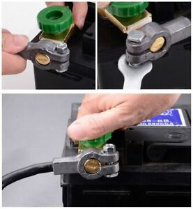 Green Car Battery Link Terminal Quick Cut Off Disconnect Master Kill Shut Switch