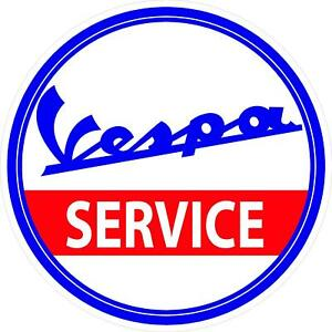 G167 1 Vespa Scooter Service Dealer Decal Sticker Fully Laminated