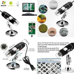 2mp 8 Led Usb 2 0 Digital Microscope Endoscope Cam W Metal Stand For Mac Window